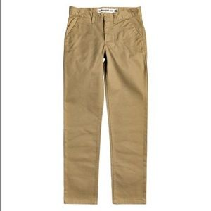 BOY'S 14 (w28) WORKER STRAIGHT FIT CHINOS